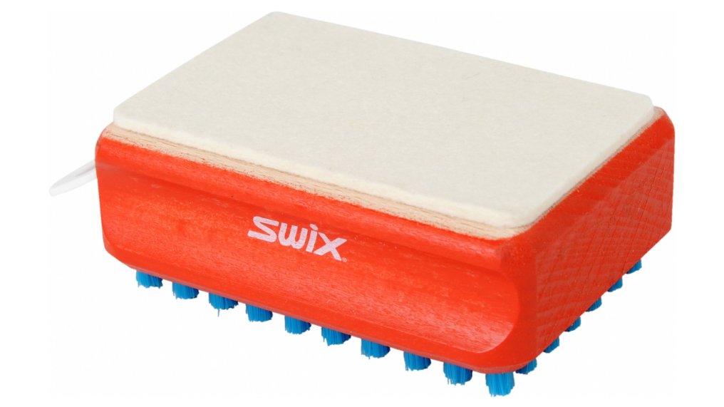 Swix Rectangular F4 Combi Brush (Felt And Blue Nylon) One Size Red