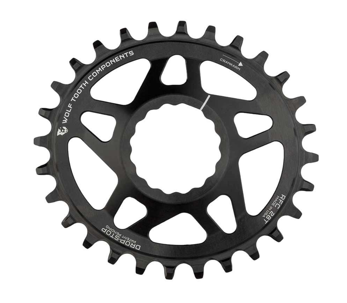Wolf Tooth Drop-Stop 9-10-11sp Elliptical Chainring 34T