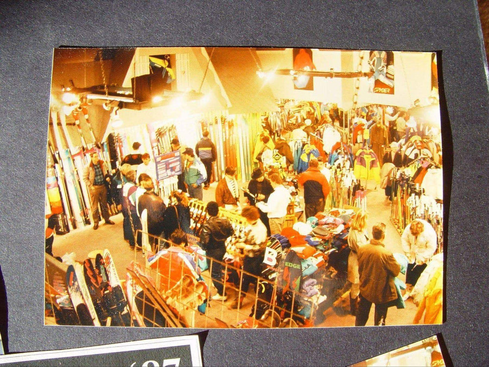 Vintage image of busy sales floor
