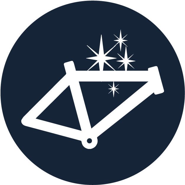 clean bike frame icon