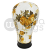 21.5in Yellow Floral Canvas Wig Head