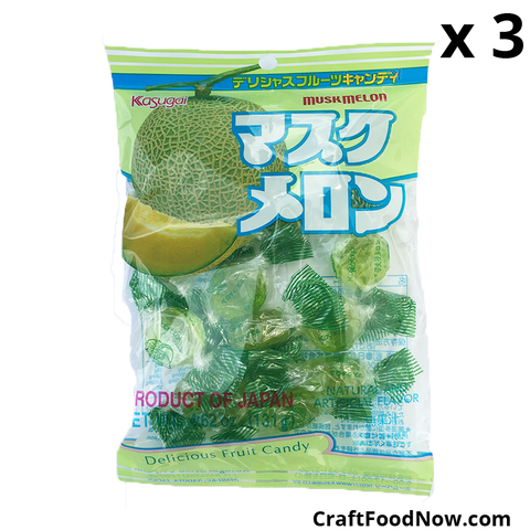 Kasugai Muskmelon Japanese Candies 3 pack