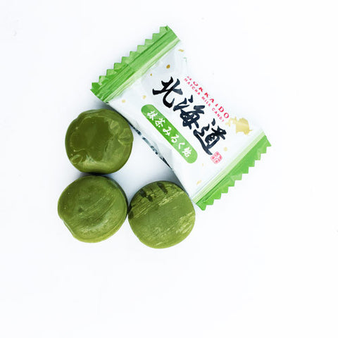 Hokkaido Japanese Match Green Tea Milk Candy 2.85oz x 3