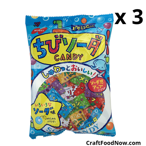 Nobel Soda Candy Japanese Import 3.1oz bags X 3