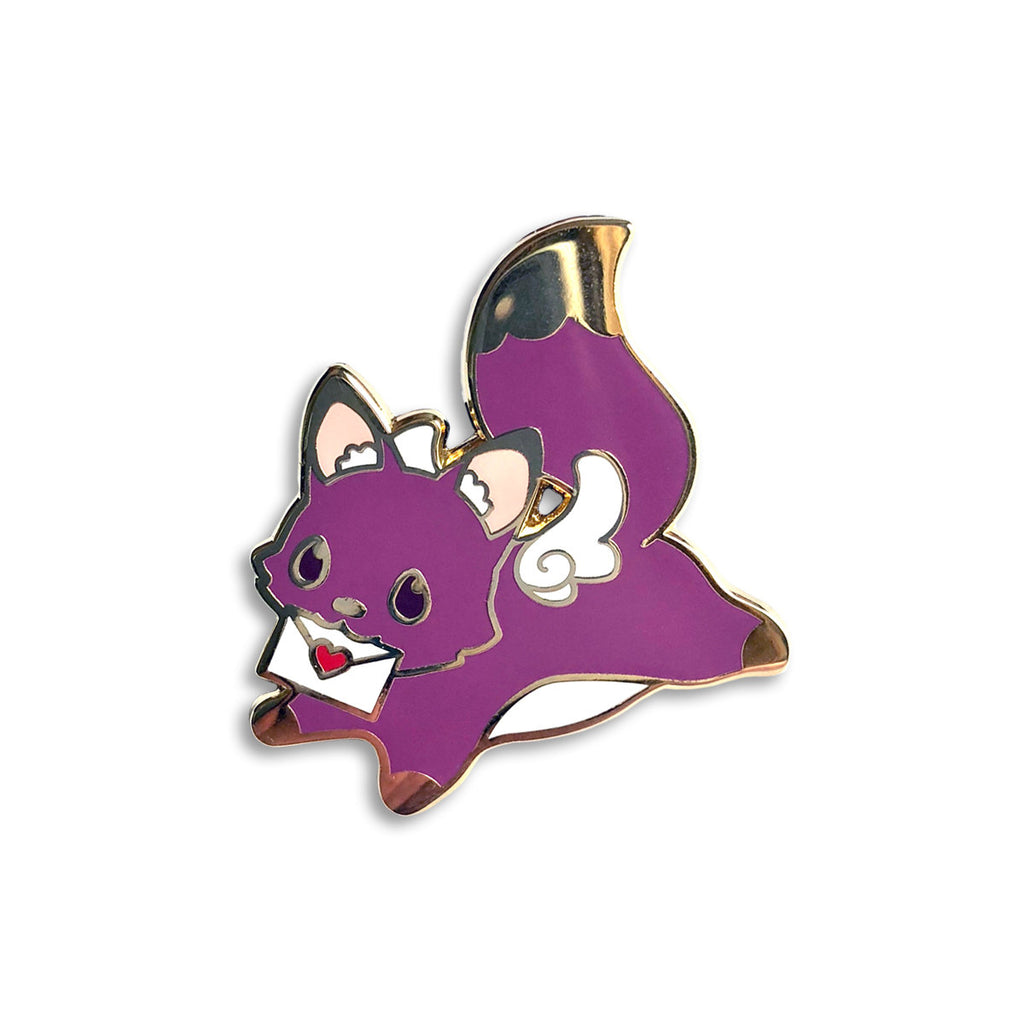 love letter cat enamel pin jewelry, cat lover lapel pin badge, cute backpack pin, valentines day gift