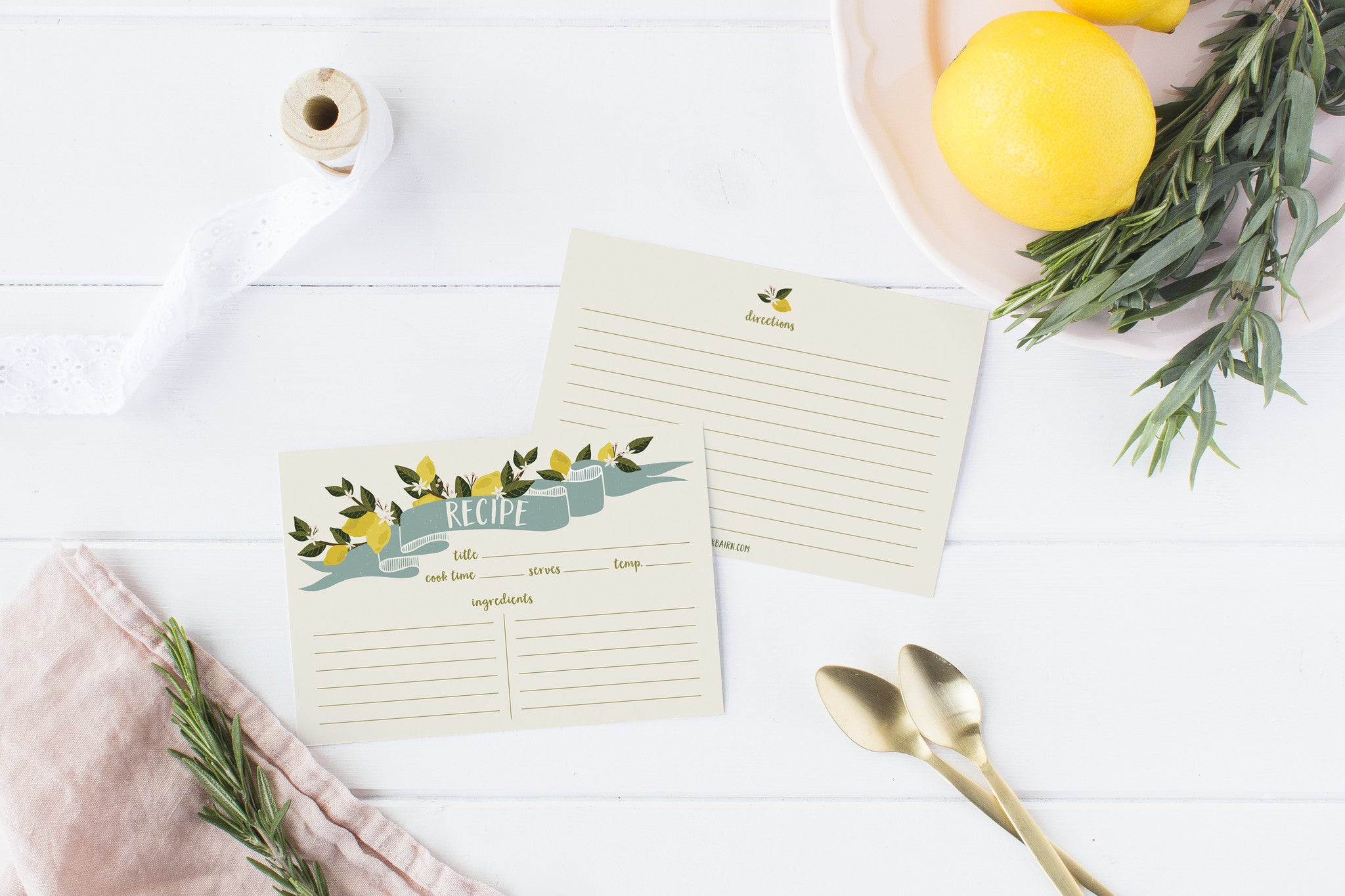 """Oh So Tart"" Recipe Cards"