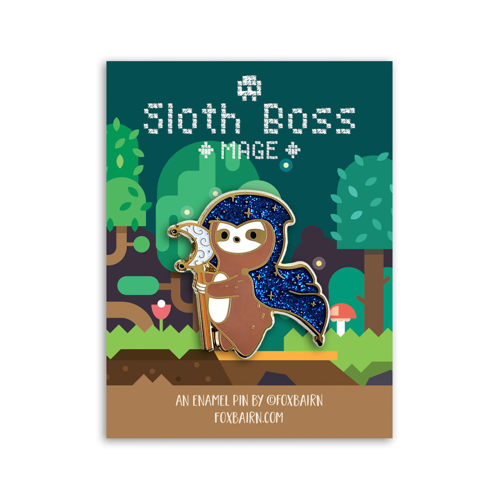 Sloth Boss Mage Enamel Pin