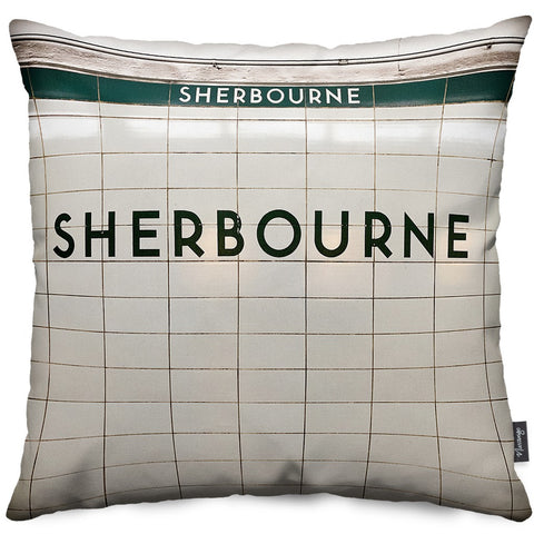 Sherbourne Station Throw Pillow