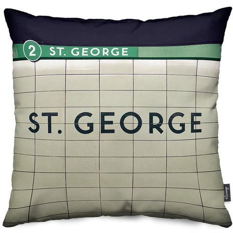 St. George Station 2 Throw Pillow
