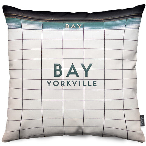 Bay Station Throw Pillow