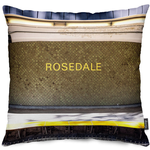 Rosedale Station Throw Pillow