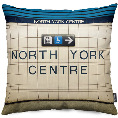 North York Centre Station Throw Pillow