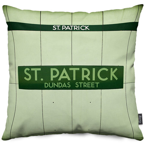 St. Patrick Station Throw Pillow