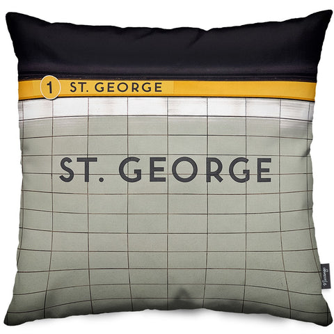 St. George Station 1 Throw Pillow
