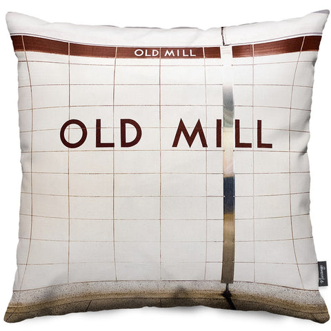 Old Mill Station Throw Pillow