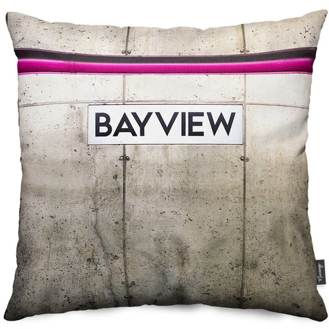 Bayview Station Throw Pillow