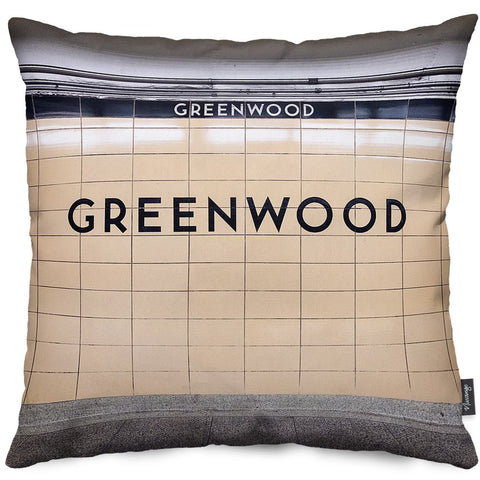 Greenwood Station Throw Pillow