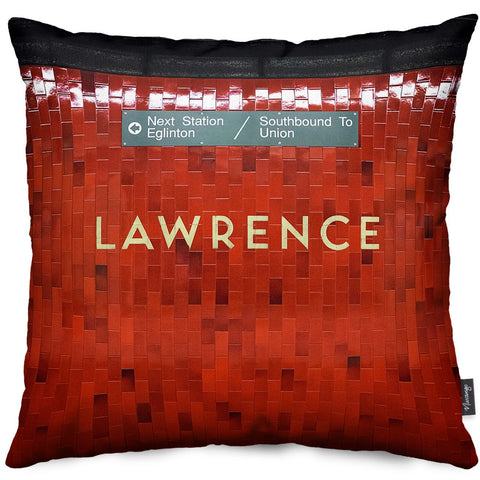 Lawrence Station Throw Pillow