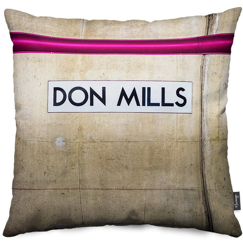 Don Mills Station Throw Pillow