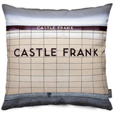 Castle Frank Station Throw Pillow