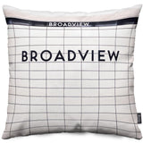 Broadview Station Throw Pillow