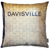 Davisville Station Throw Pillow