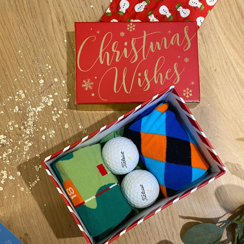 Sock Life Christmas Golf Gift Box