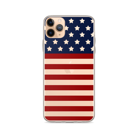 AMERICAN Clear iPhone Case