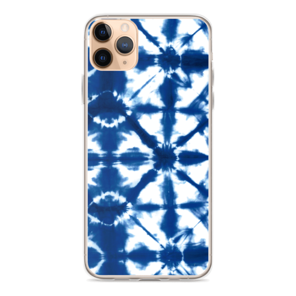 BLUE TIE DYE iPhone Case