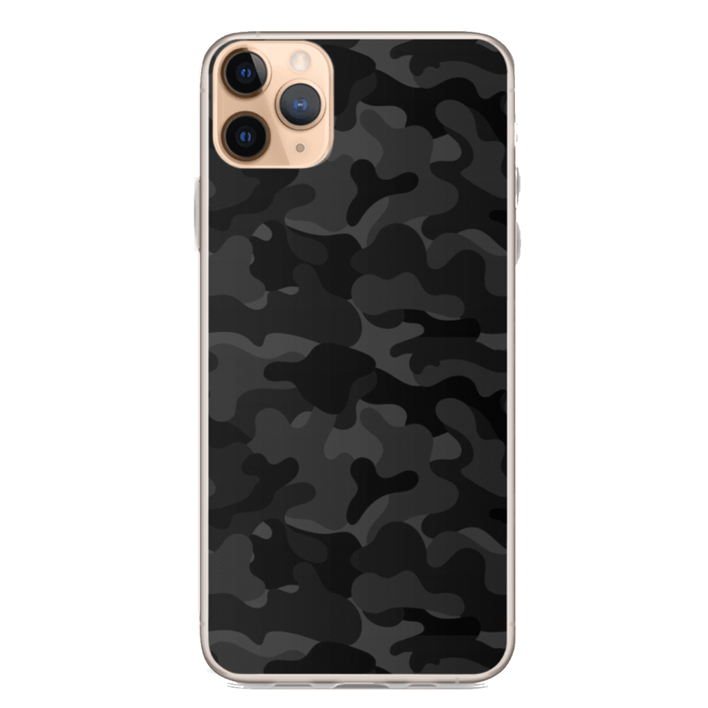 BLACK CAMO iPhone Case