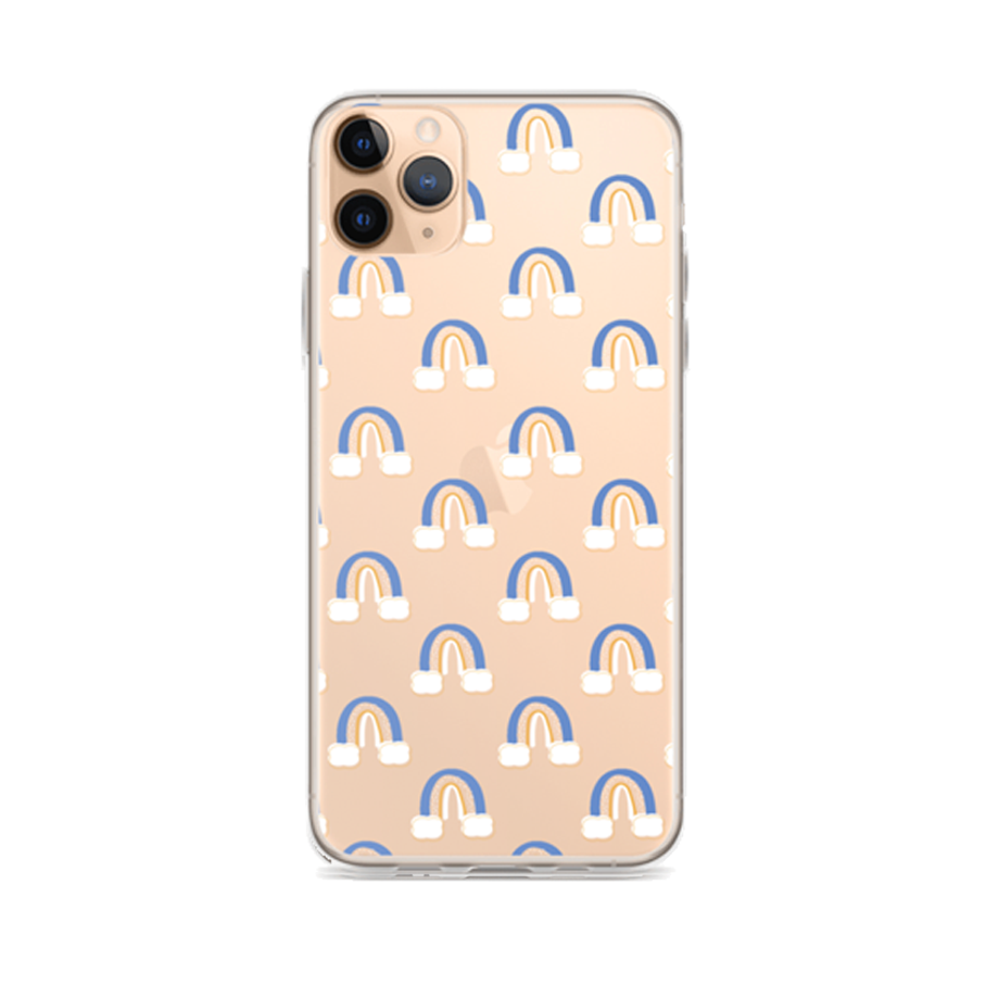 BLUE RAINBOWS Clear iPhone Case