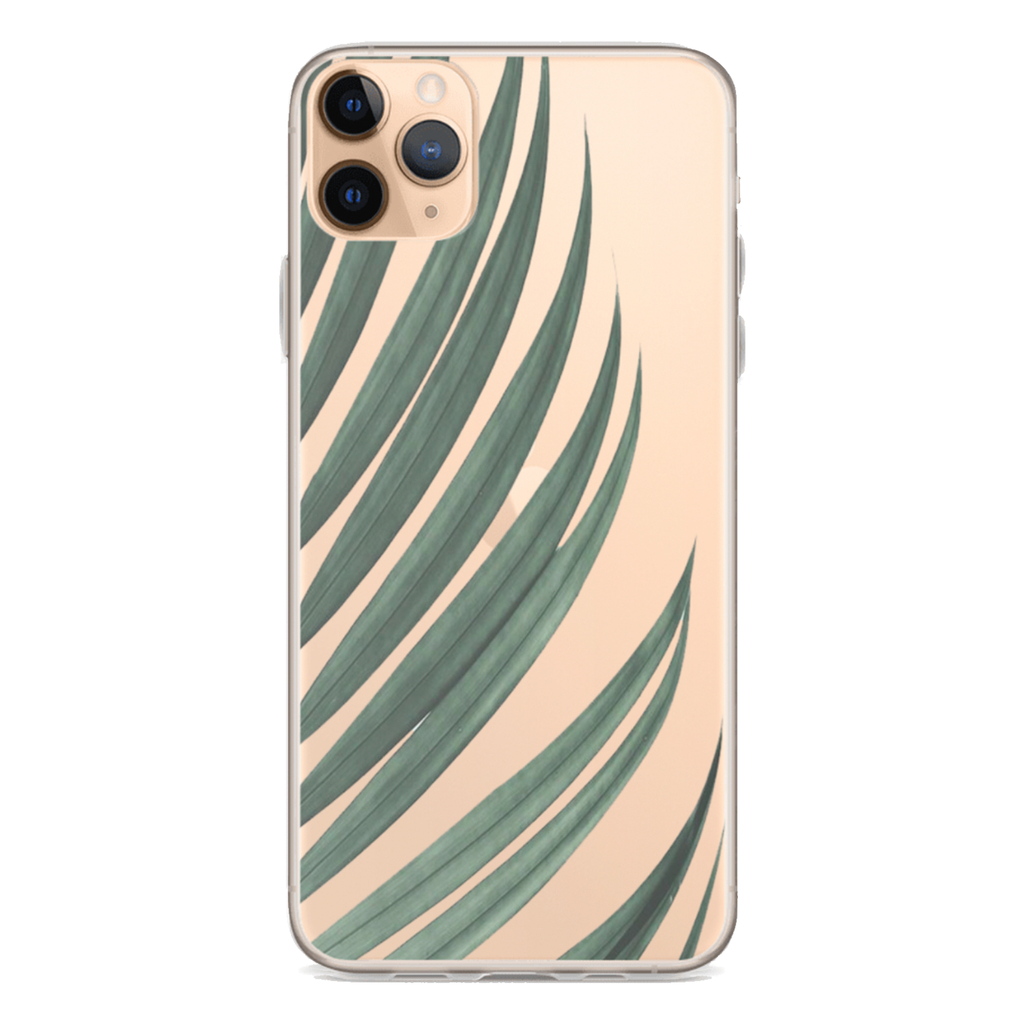GREEN PALM Clear iPhone Case