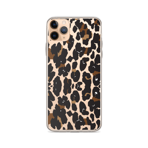 LEOPARD Clear iPhone Case