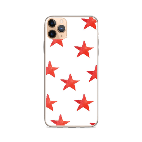 RED STARS iPhone Case