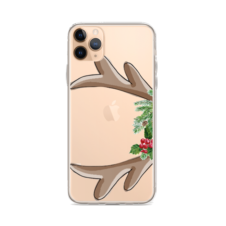 ANTLERS Clear iPhone Case