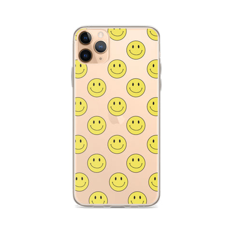 ALL SMILES Clear iPhone Case