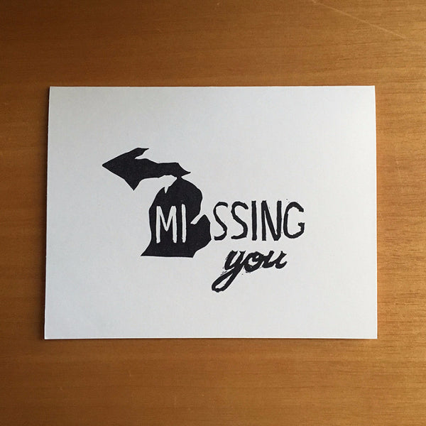 Michigan Missing You - United States of Affection - Quill and Crown