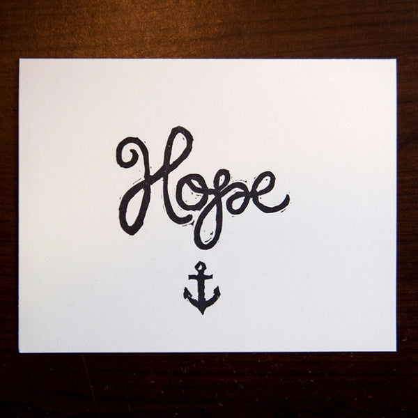 Hope w/ Anchor - Quill and Crown