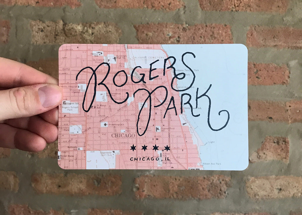Rogers Park Postcard - Quill and Crown