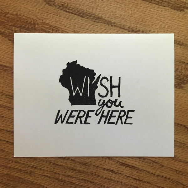 Wisconsin Wish You Were Here - Quill and Crown