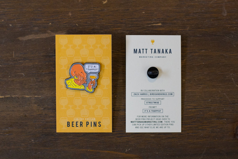 It's a Trappist! - Enamel Beer Pin - Quill and Crown