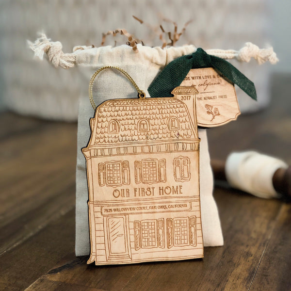 First Home No. 1 Christmas Ornament (CUSTOMIZABLE)