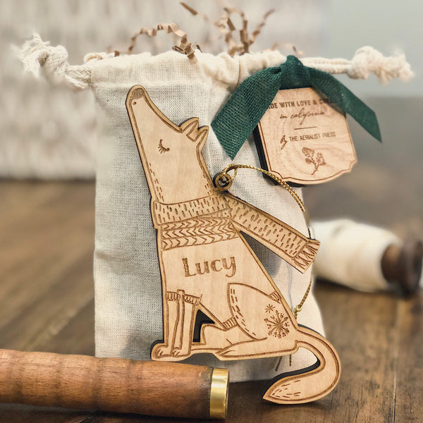 Lucy the Pup Christmas Ornament (CUSTOMIZABLE)