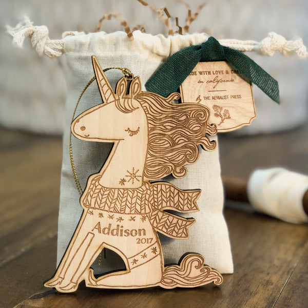 Uli the Unicorn (CUSTOMIZABLE) - Child's Name Ornament