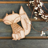 Felix the Fox (CUSTOMIZABLE) - Child's Name Ornament