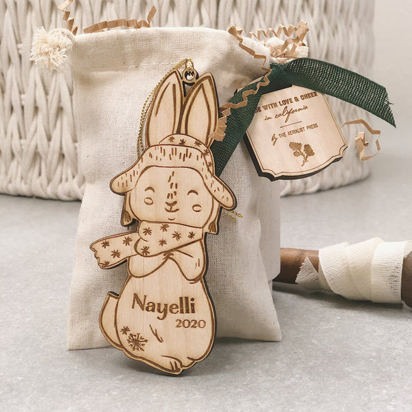 Bex the Bunny (CUSTOMIZABLE) - Child's Name Ornament
