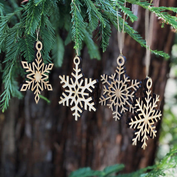 Aspen Snowflake Ornament Collection (set of four)