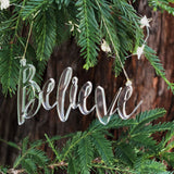 BELIEVE Acrylic Christmas Ornament