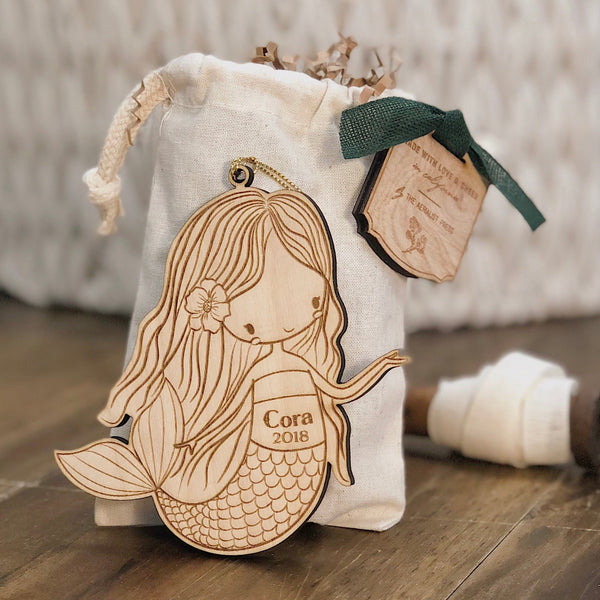 Mermaid Girl Christmas Ornament (CUSTOMIZABLE)