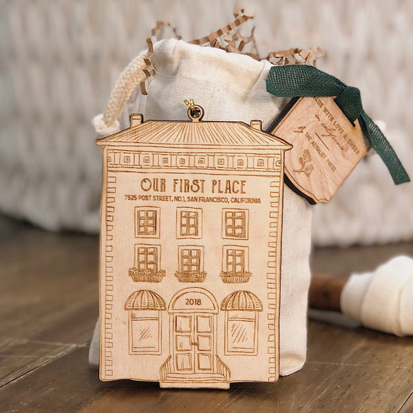 First Apartment or Home Christmas Ornament (CUSTOMIZABLE)